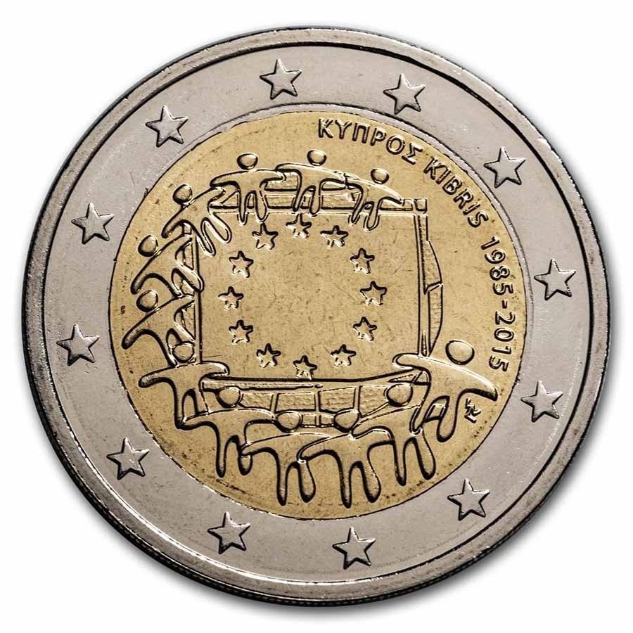 2015 Cyprus 2 Euro EU Flag BU