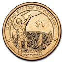 2015-D Native Amer $1 - Mohawk Ironworkers BU