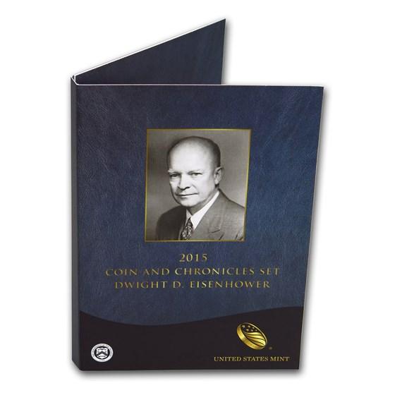 2015 Eisenhower Coin & Chronicles Set