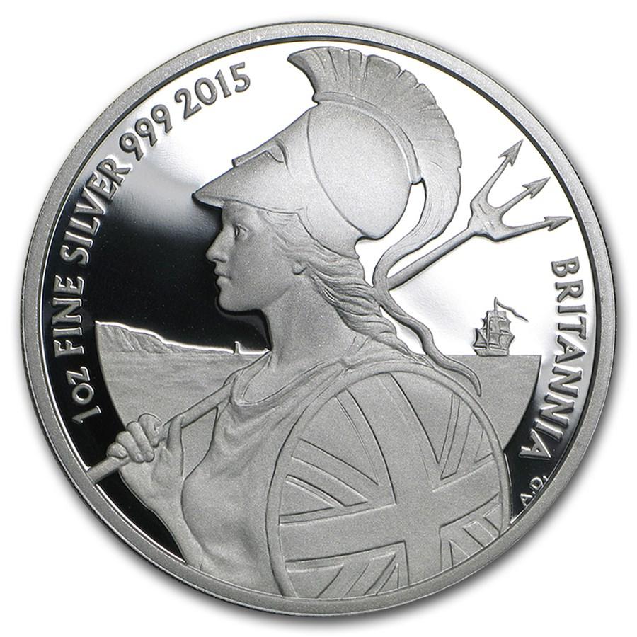 2015 Great Britain 1 oz Proof Silver Britannia