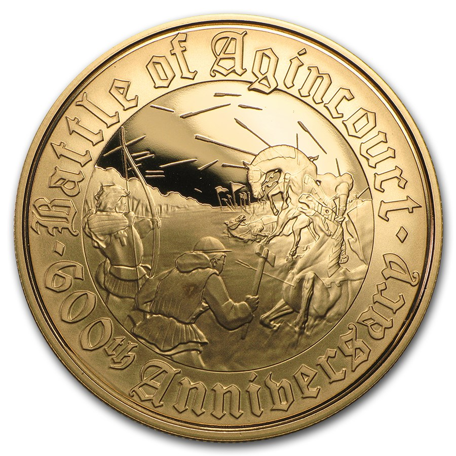 2015 Great Britain £5 Gold Battle of Agincourt Alderney Proof
