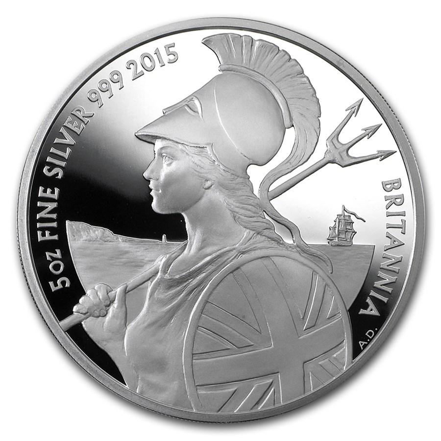 2015 Great Britain 5 oz Proof Silver Britannia
