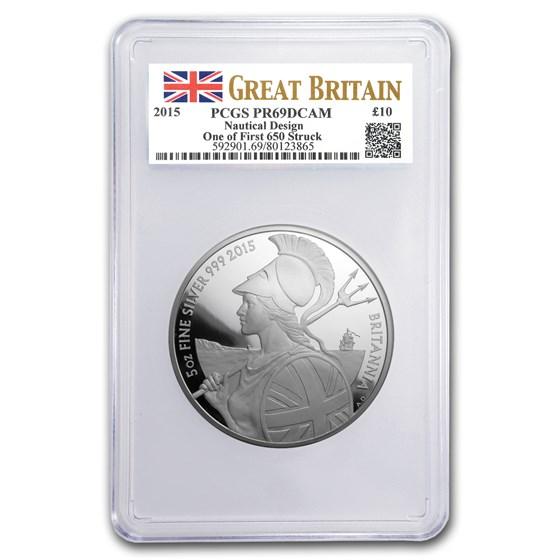 2015 Great Britain 5 oz Silver Britannia PR-69 PCGS