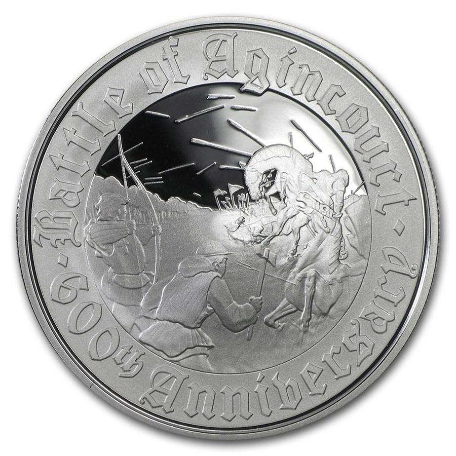 2015 Great Britain £5 Silver Battle of Agincourt Alderney Proof