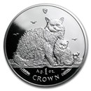 2015 Isle of Man 1 oz Silver Selkirk Rex Cat Proof
