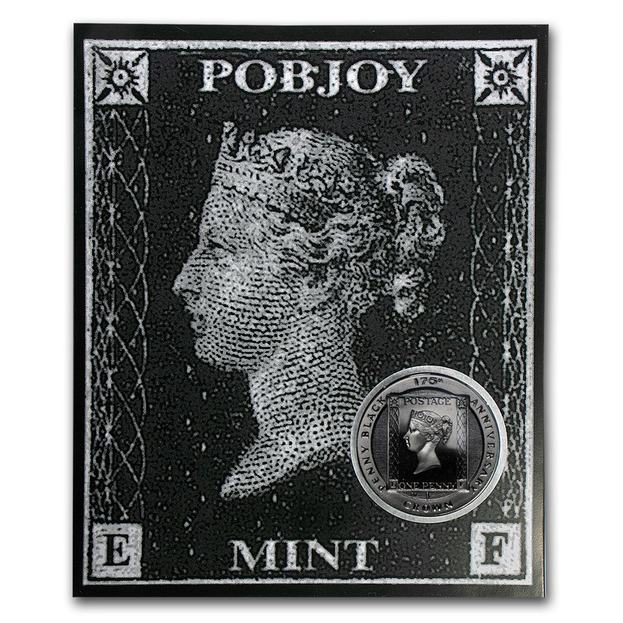 2015 Isle of Man Cupro-Nickel 1 Crown 175th Anniv Penny Black