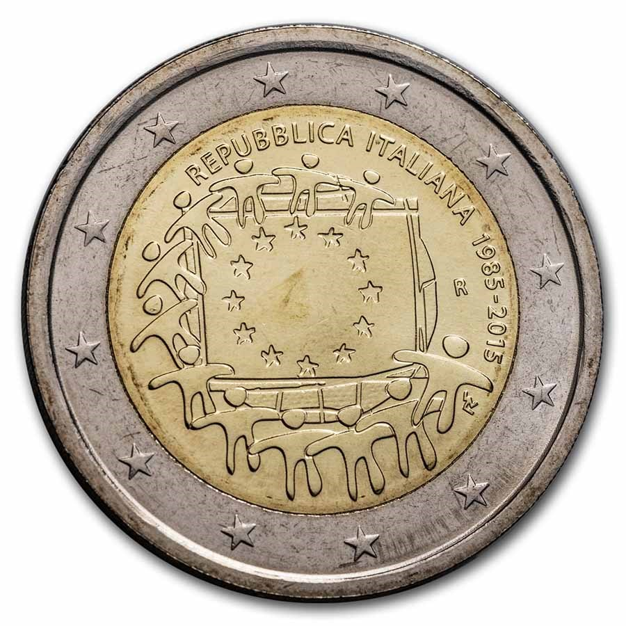2015 Italy 2 Euro EU Flag BU