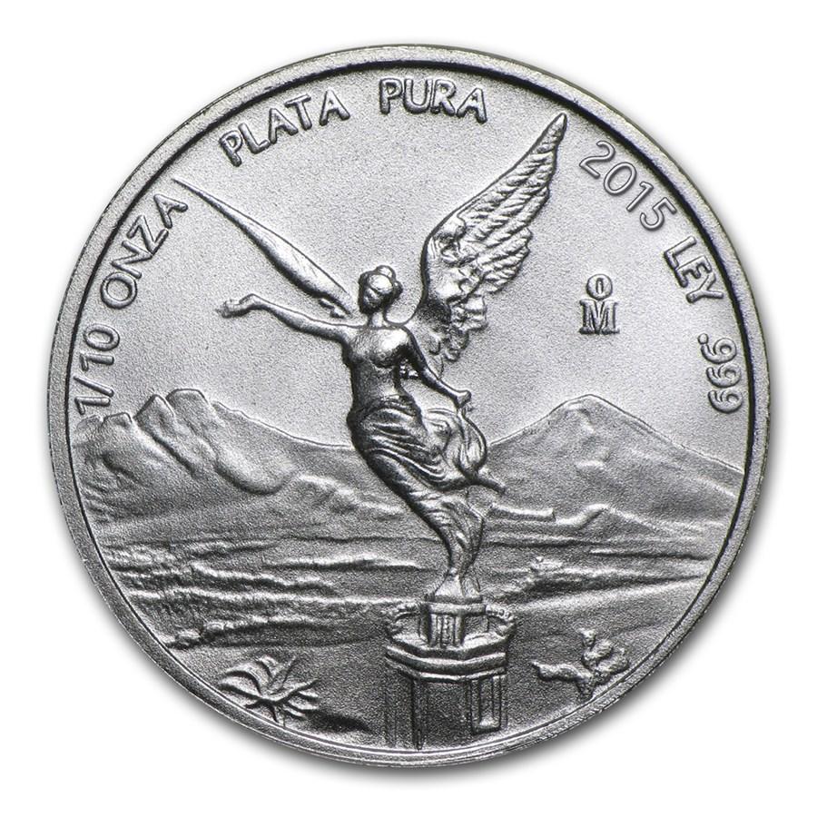 2015 Mexico 1/10 oz Silver Libertad BU