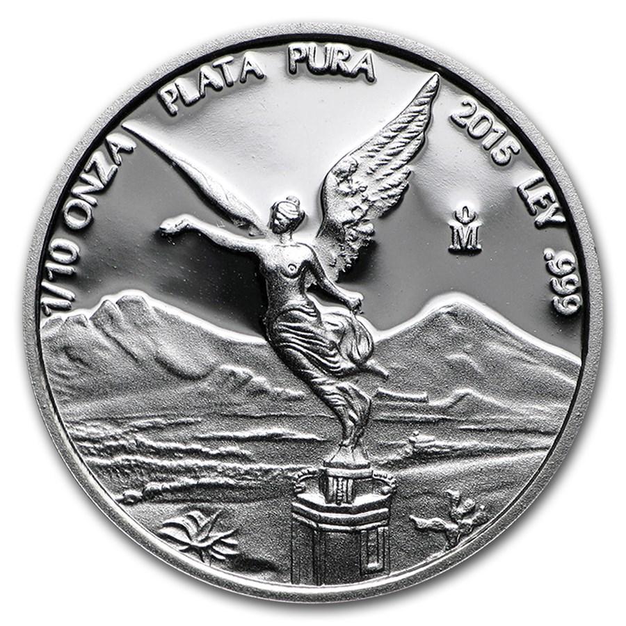 2015 Mexico 1/10 oz Silver Libertad Proof (In Capsule)
