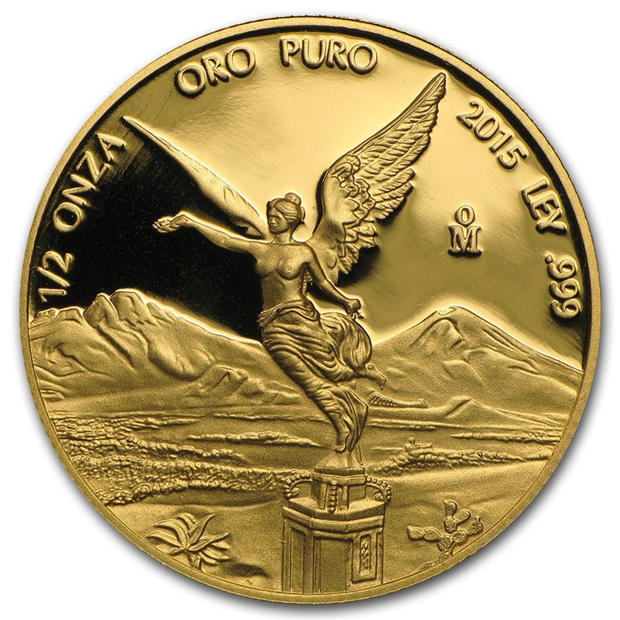 2015 Mexico 1/2 oz Proof Gold Libertad