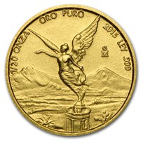 2015 Mexico 1/20 oz Gold Libertad BU