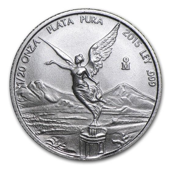 2015 Mexico 1/20 oz Silver Libertad BU