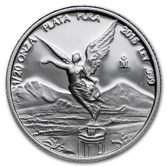 2015 Mexico 1/20 oz Silver Libertad Proof (In Capsule)