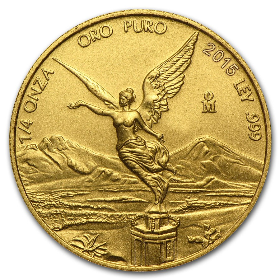 2015 Mexico 1/4 oz Gold Libertad BU