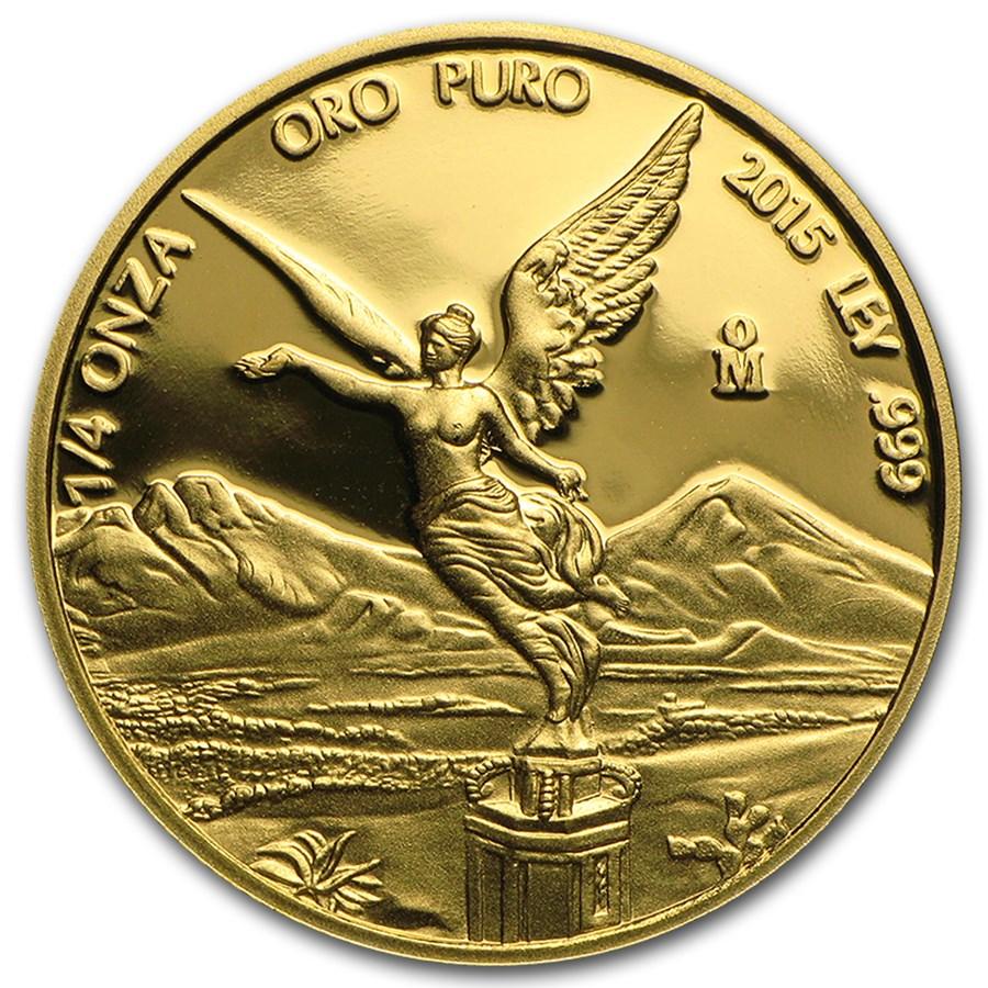 2015 Mexico 1/4 oz Proof Gold Libertad