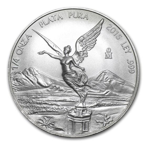2015 Mexico 1/4 oz Silver Libertad BU