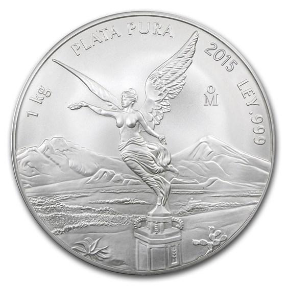 2015 Mexico 1 kilo Silver Libertad BU (In Capsule)