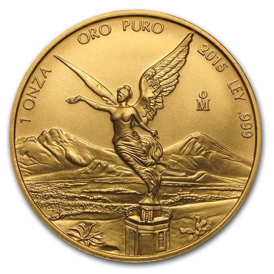 2015 Mexico 1 oz Gold Libertad BU