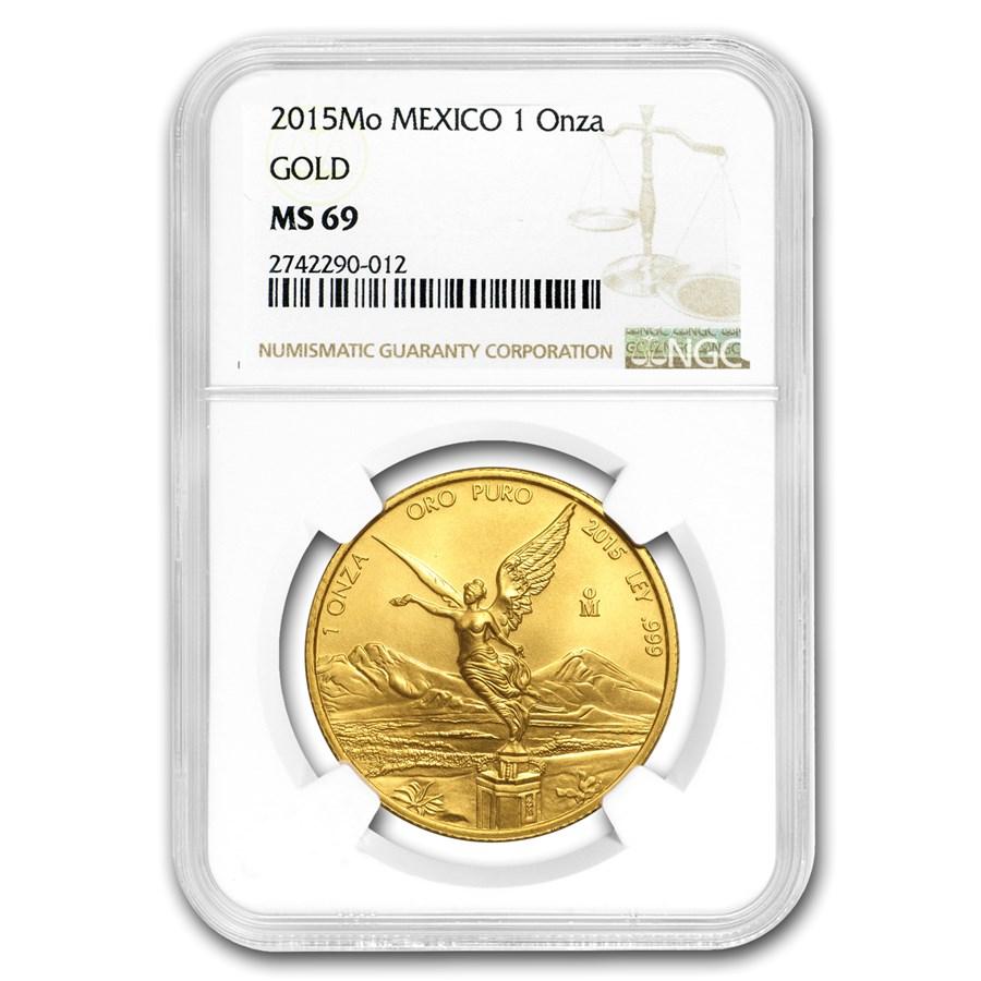 2015 Mexico 1 oz Gold Libertad MS-69 NGC