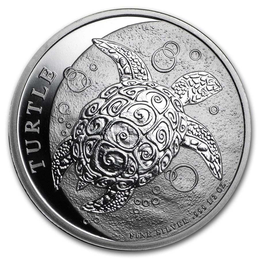 2015 Niue 1/2 oz Silver $1 Hawksbill Turtle BU