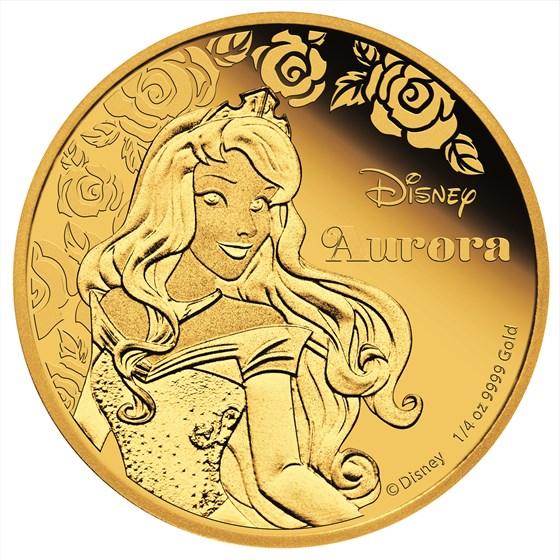 2015 Niue 1/4 oz Proof Gold $25 Disney Princess Aurora