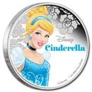 2015 Niue 1 oz Silver $2 Disney Princess Cinderella