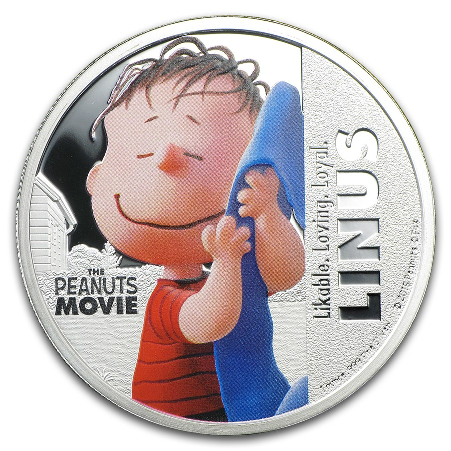 "2015 Niue 1 oz Silver ""The Peanuts Movie"" Linus"