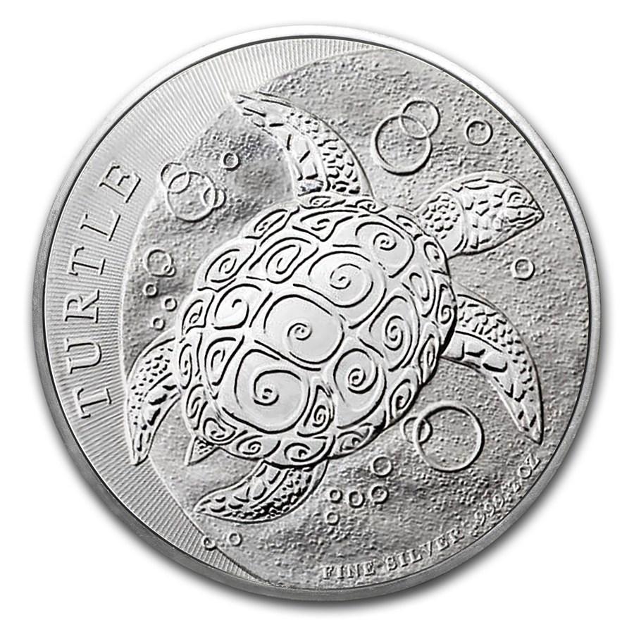 2015 Niue 2 oz Silver $5 Hawksbill Turtle