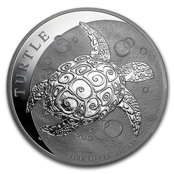 2015 Niue 5 oz Silver $10 Hawksbill Turtle BU