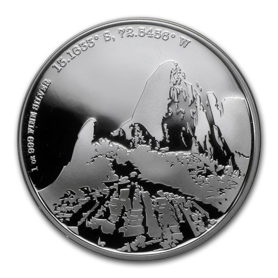 2015 Niue Proof 1 oz Silver Forgotten Cities Machu Picchu