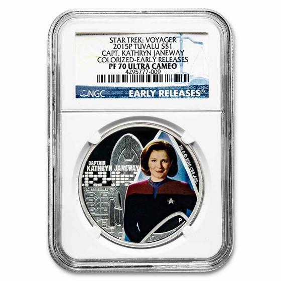 2015-P TUV 1 oz Silver Star Trek: Capt Kathryn Janeway PF-70 (ER)