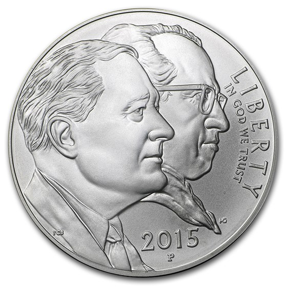 2015-P U.S. March of Dimes $1 Silver Commem BU (w/Box & COA)