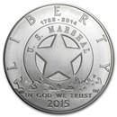 2015-P U.S. Marshals Service $1 Silver Commem BU (w/Box & COA)