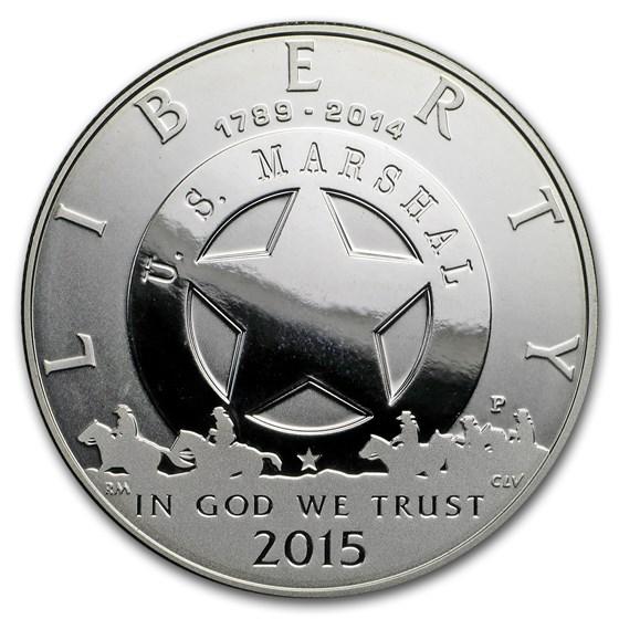 2015-P U.S. Marshals Service $1 Silver Commem Pf (Capsule Only)
