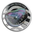 2015 Palau Silver Marine Life Protection Pearl Rainbow of the Sea