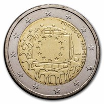 2015 Portugal 2 Euro EU Flag BU