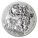 2015 Rwanda 1 oz Silver African Buffalo BU