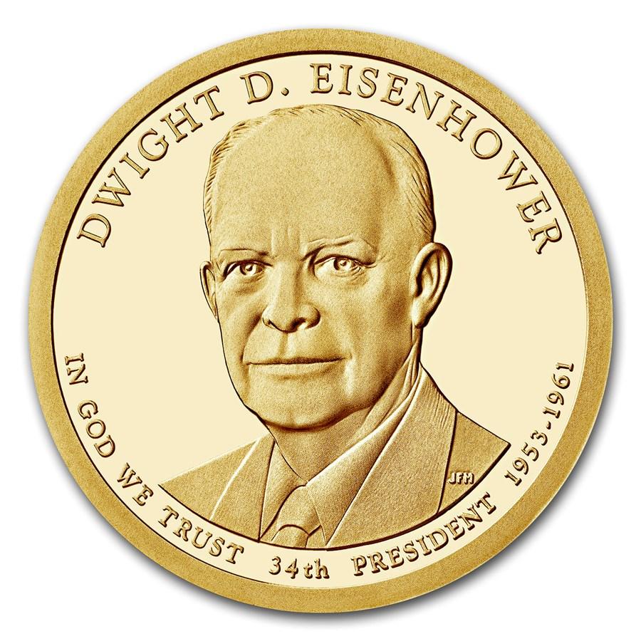 2015-S Dwight Eisenhower Presidential Dollar Proof