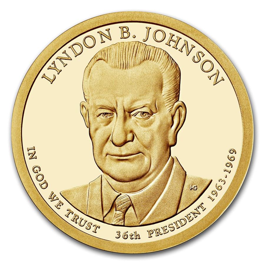 2015-S Lyndon Johnson Presidential Dollar Proof