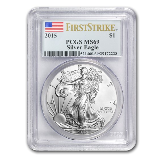2015 Silver American Eagle MS-69 PCGS (FirstStrike®)