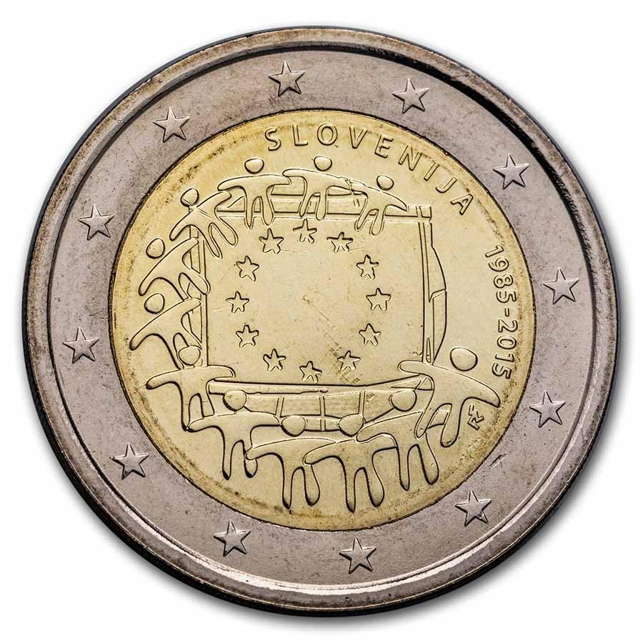2015 Slovenia 2 Euro EU Flag BU