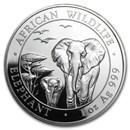 2015 Somalia 1 oz Silver Elephant BU