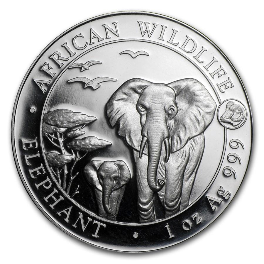 2015 Somalia 1 oz Silver Elephant (Ram Privy)