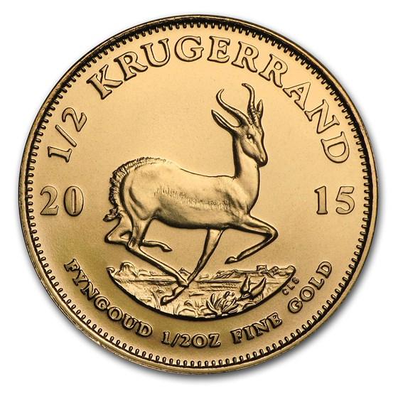 2015 South Africa 1/2 oz Gold Krugerrand