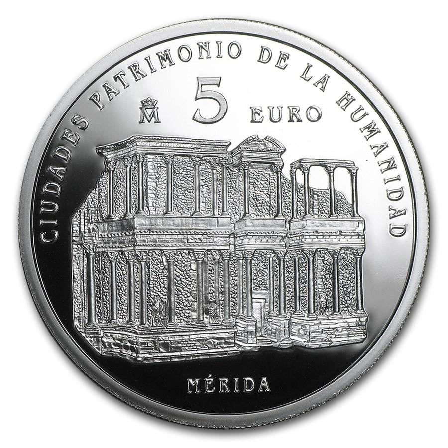 2015 Spain Proof Silver €5 UNESCO Mérida