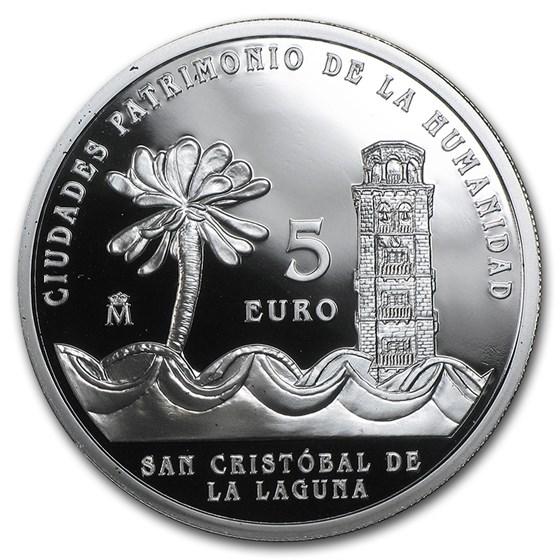 2015 Spain Proof Silver €5 UNESCO San Cristóbal de la Laguna