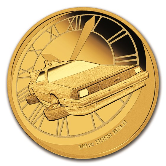 2015 Tuvalu 1/4 oz Gold Back to the Future Proof