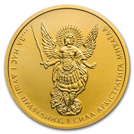 2015 Ukraine 1/2 oz Gold Archangel Michael BU