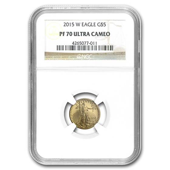 2015-W 1/10 oz Proof American Gold Eagle PF-70 UCAM NGC