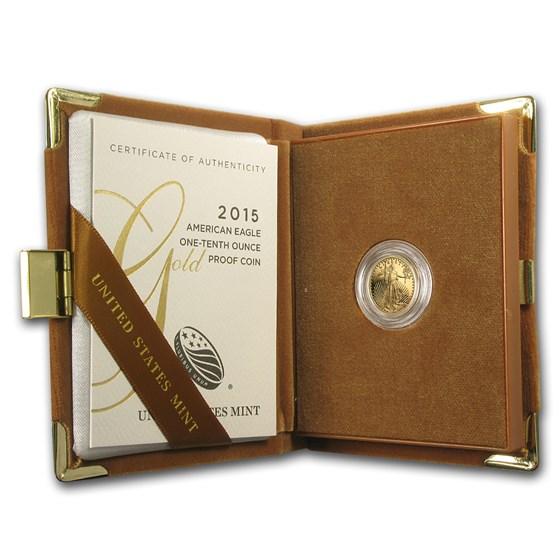 2015-W 1/10 oz Proof American Gold Eagle (w/Box & COA)